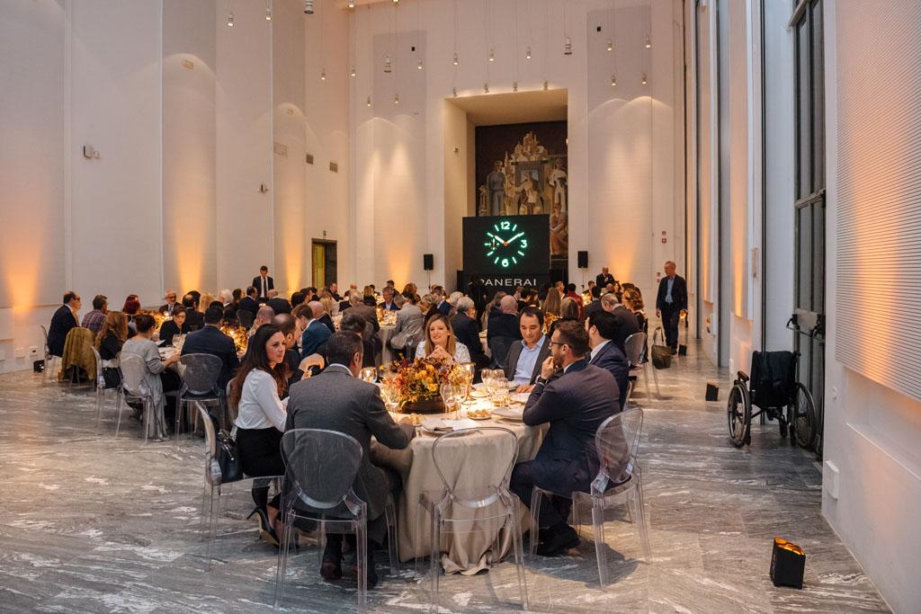 Fotografo cena aziendale evento Natale Milano Stefano Pedrelli