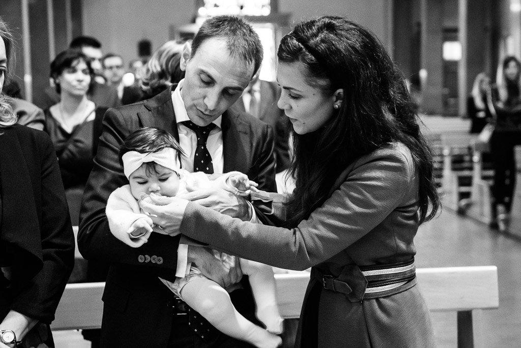 Fotografo bianconero battesimo cerimonia Milano Stefano Pedrelli
