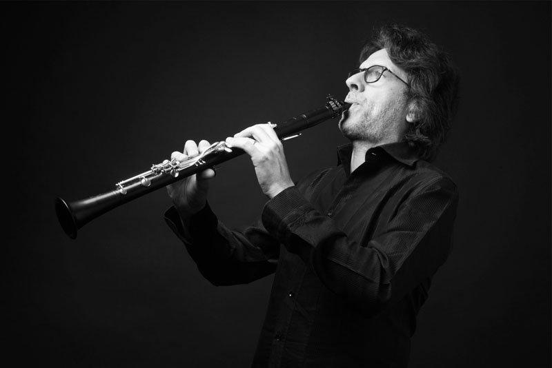 Fotografo ritratti Milano studio Enrico Maria Baroni clarinettista